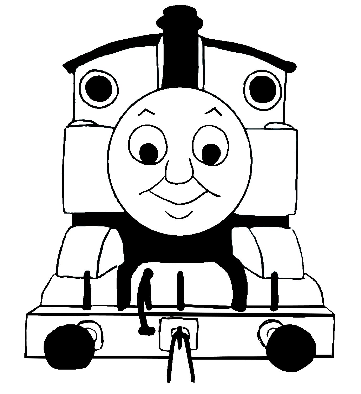 Images For Gt Thomas Train Clip Art Black And White