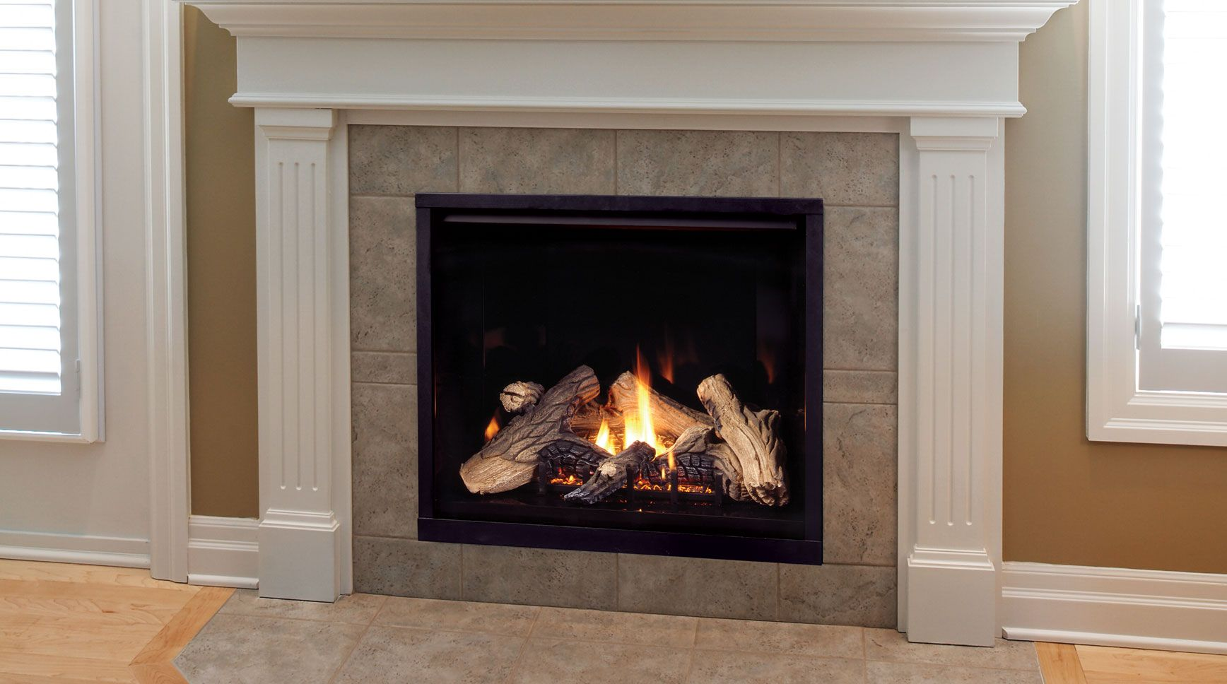 Gas fireplaces come in vented or non