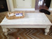 White washed Coffee Table | My Elements to Elegance ...