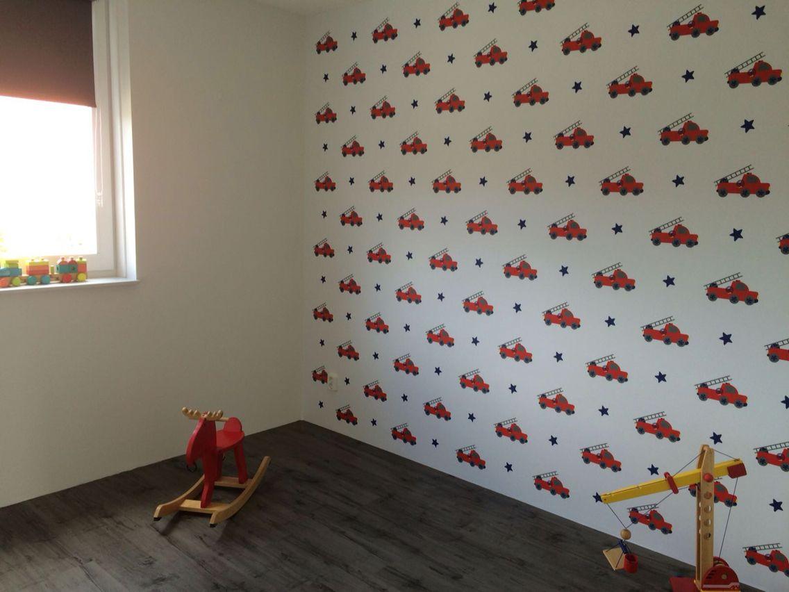 Behang Kinderkamer Stoer : Behang stoer woonkamer interieur franse stijl