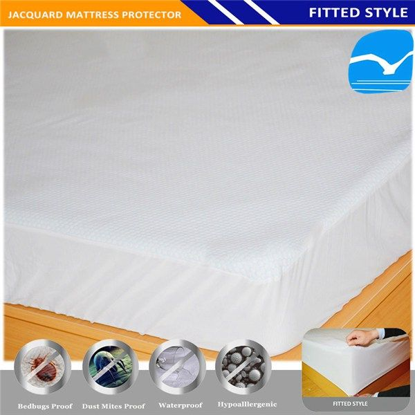 Zipper Waterproof Mattress Protector Box Deme For Bed Bugs And Wetting In Brampton
