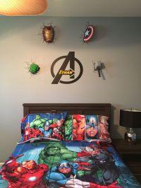 Avengers wall decor | Avengers bedroom | Pinterest | 2 ...