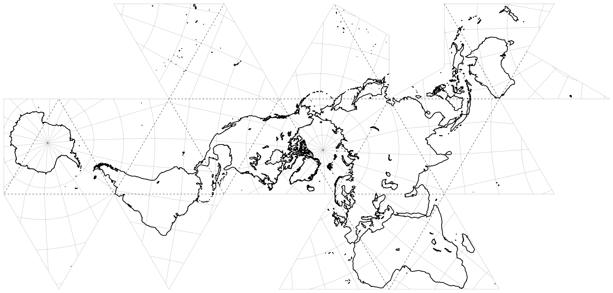 Dymaxion map 2000px-Fuller_projection_rotated_(land_only