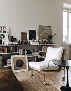 One picture love brass  gold interior design also living room bookshelves bookshelf rh pinterest