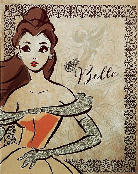 Disney Princess Fashionista Canvas Art