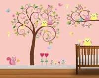 Children Owl Wall Decal Baby Nursery Wall Decal by ...