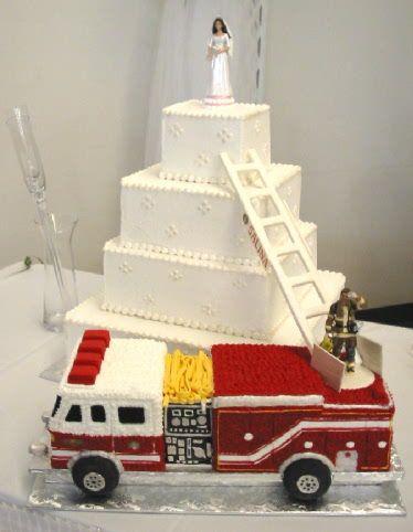 Firefighter Wedding Cakes on Pinterest  Firefighter Wedding Firefighter Wedding Themes and