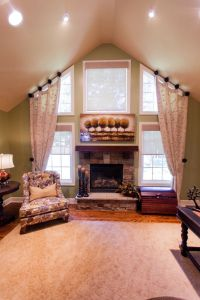 Window Treatments for Tall Windows Family Room ...