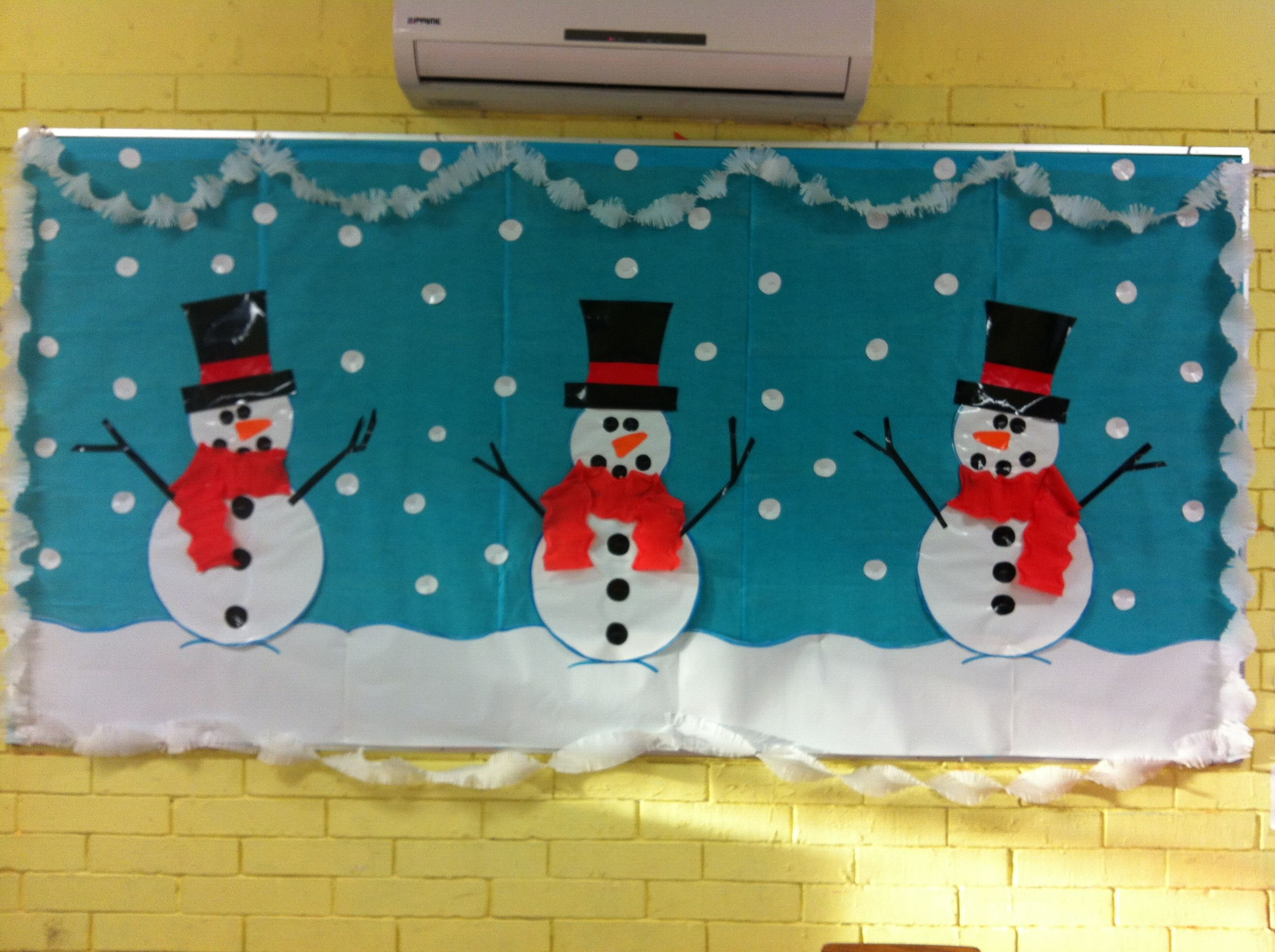 Winter Bulletin Board God Idea With The Crate Paper