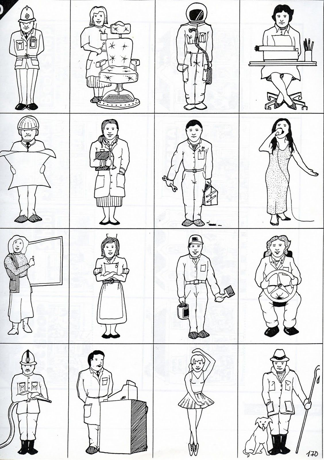 Profesiones Para Colorear En Ingles