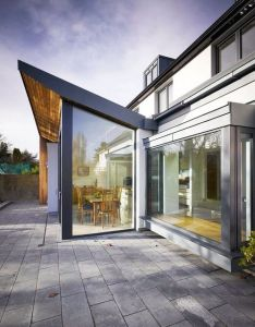 Home remodel and extension project with stunning rear side design fascinating house also diy pinterest extensions open plan kitchen rh