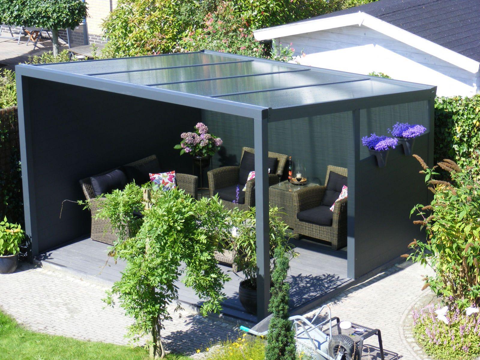 Glass Veranda Garden Canopy 2m Deep GARDEN AND OUTSIDE IDEAS