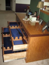use an old dresser for a homemade gun cabinet...Brock's