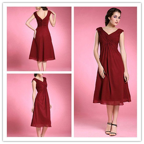 chiffon calf length dress