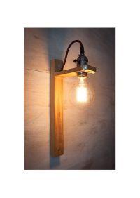 Wall Sconce G80 Edison lamp, Rustic wood lamp, Wood lamp ...
