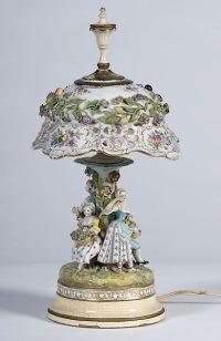 Dresden porcelain lamps on Pinterest | Porcelain, Table ...