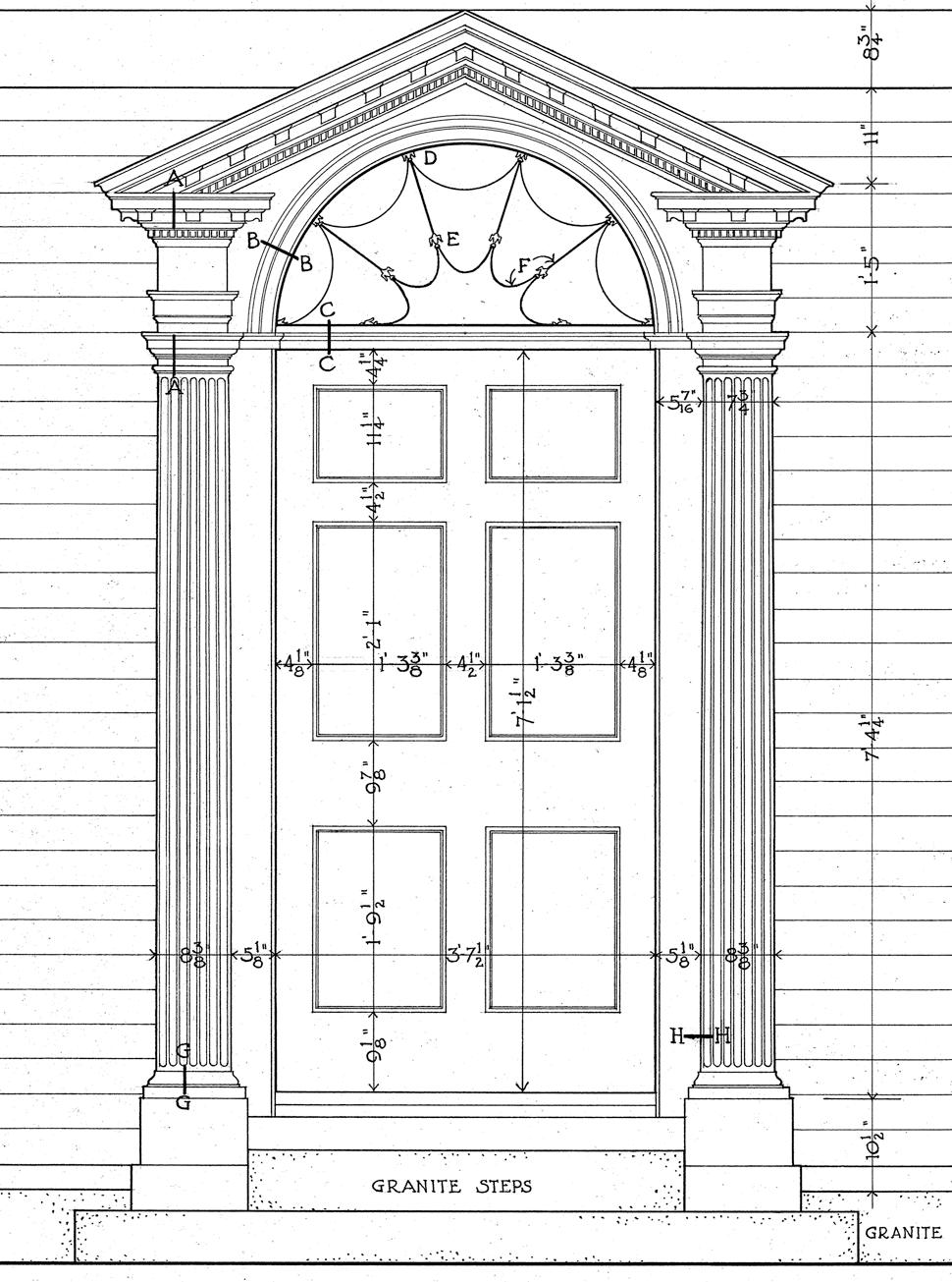 Neo-Classical Style ( Georgian 1720-1830) Door