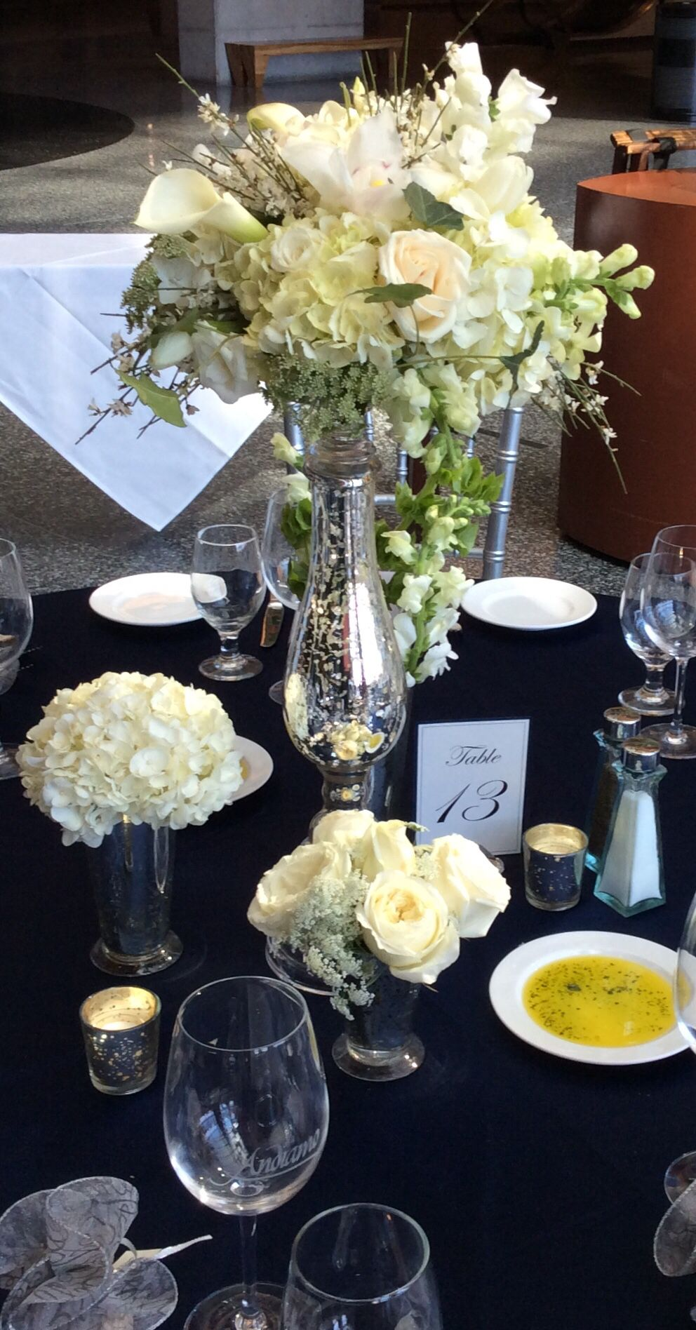 Flowers Tables Wedding Reception