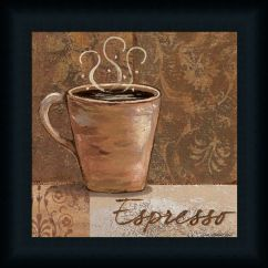 Coffee Decoration For Kitchen Cabinets With Glass Doors Espresso By Jo Sign Décor Framed Art Print
