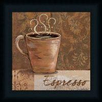 Espresso by Jo Coffee Sign Kitchen Dcor Framed Art Print ...