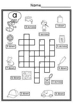 CVC Simple Crossword Puzzles