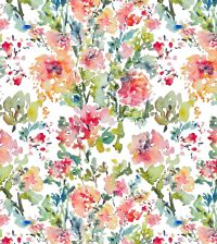 Watercolor Flowers Fabric Pattern. | Fabric Designs By ...