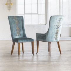 Teal Chair Covers Height Adjustable Dining Chairs Our Kingsley Covered In Como Silk Velvet
