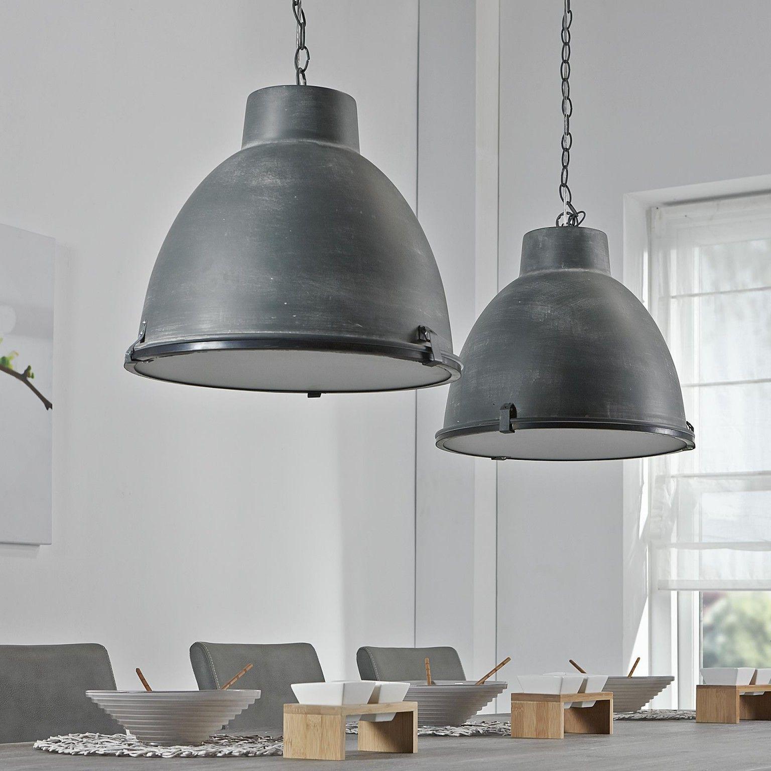 Industrile Hanglamp Brigida met dubbele kap kleur