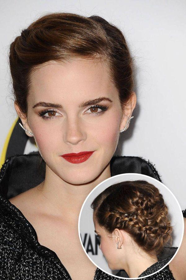 Celebrity-inspired Wedding Braids Red Carpet Emma Watson And Updo