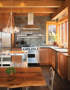Sustainable home in colorado wood and concrete kitchen by ullr designs robert hawkins architect also rh pinterest