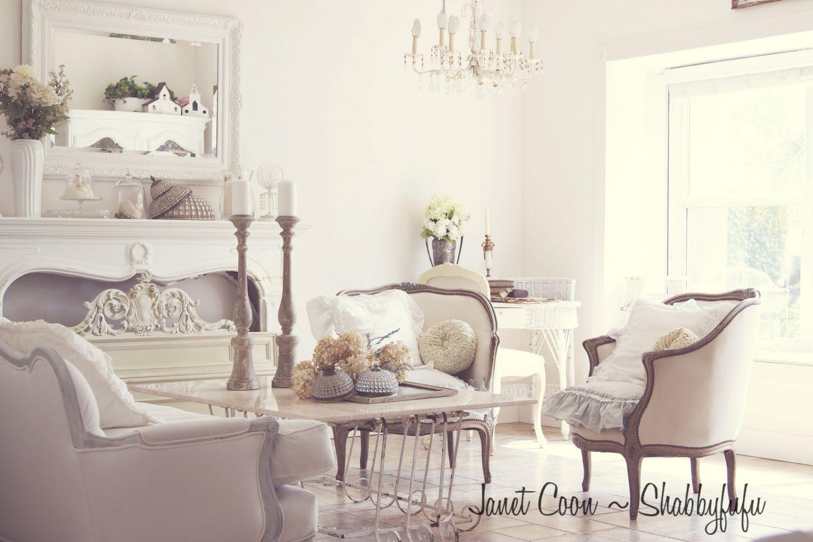 Shabbyfufu: White Living Room