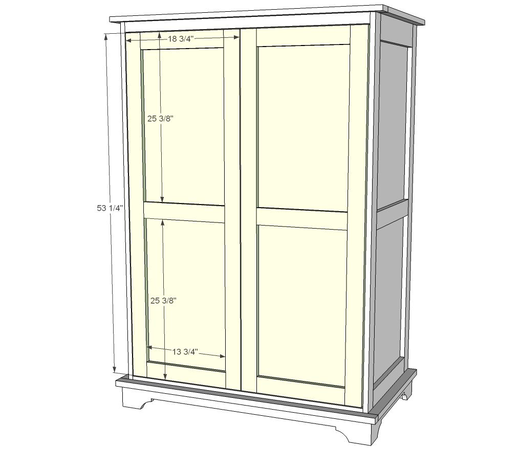 Free Diy Woodworking Plans To Build A Large Armoire An Is