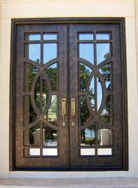 Contemporary Iron Double Door Clark Hall Iron Doors ...