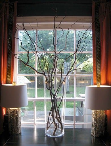 decorate with twigs for wedding   Using Fresh and Dry