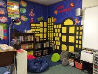 My beautiful reading corner #superheroes #fifthgradefun ...
