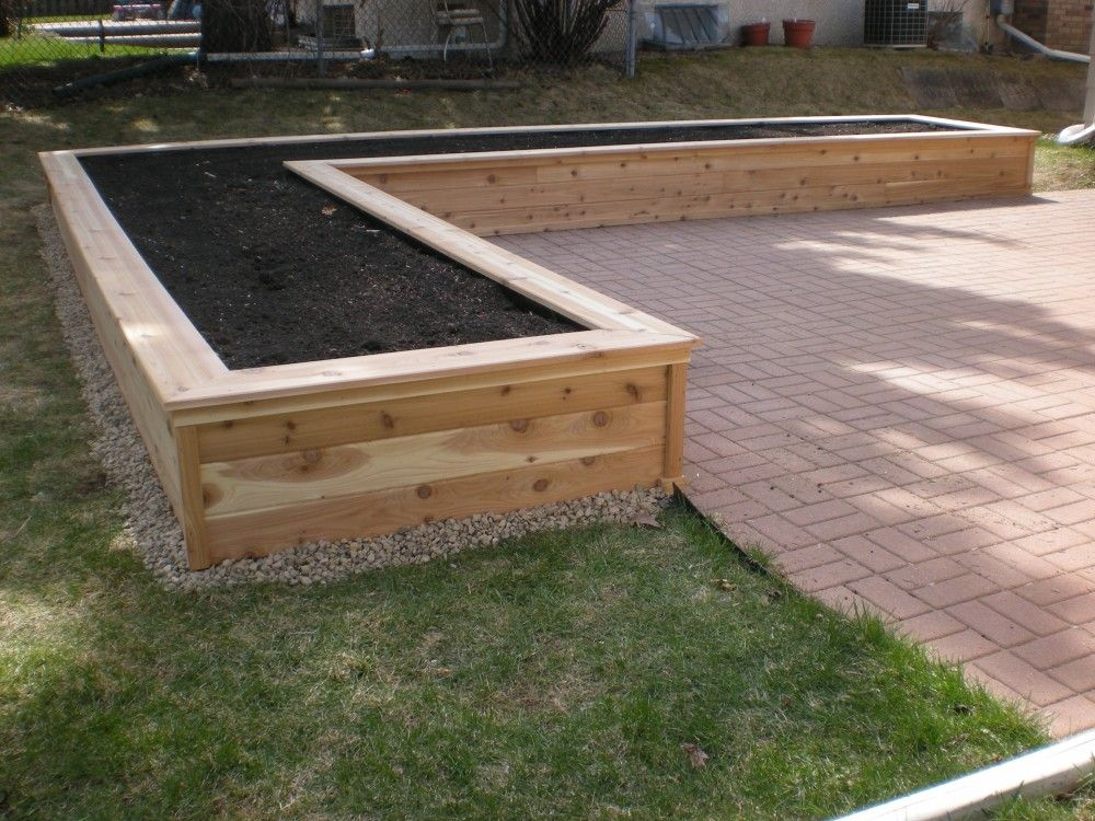Planter Box Como Lake Carpentry Backyard Pinterest Gardens