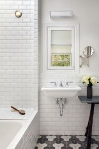 Subway Tile Bathroom Ideas Floor  City Wide Kitchen and