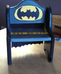 Batman wood stool by TheHandpaintedHero on Etsy | Art ...