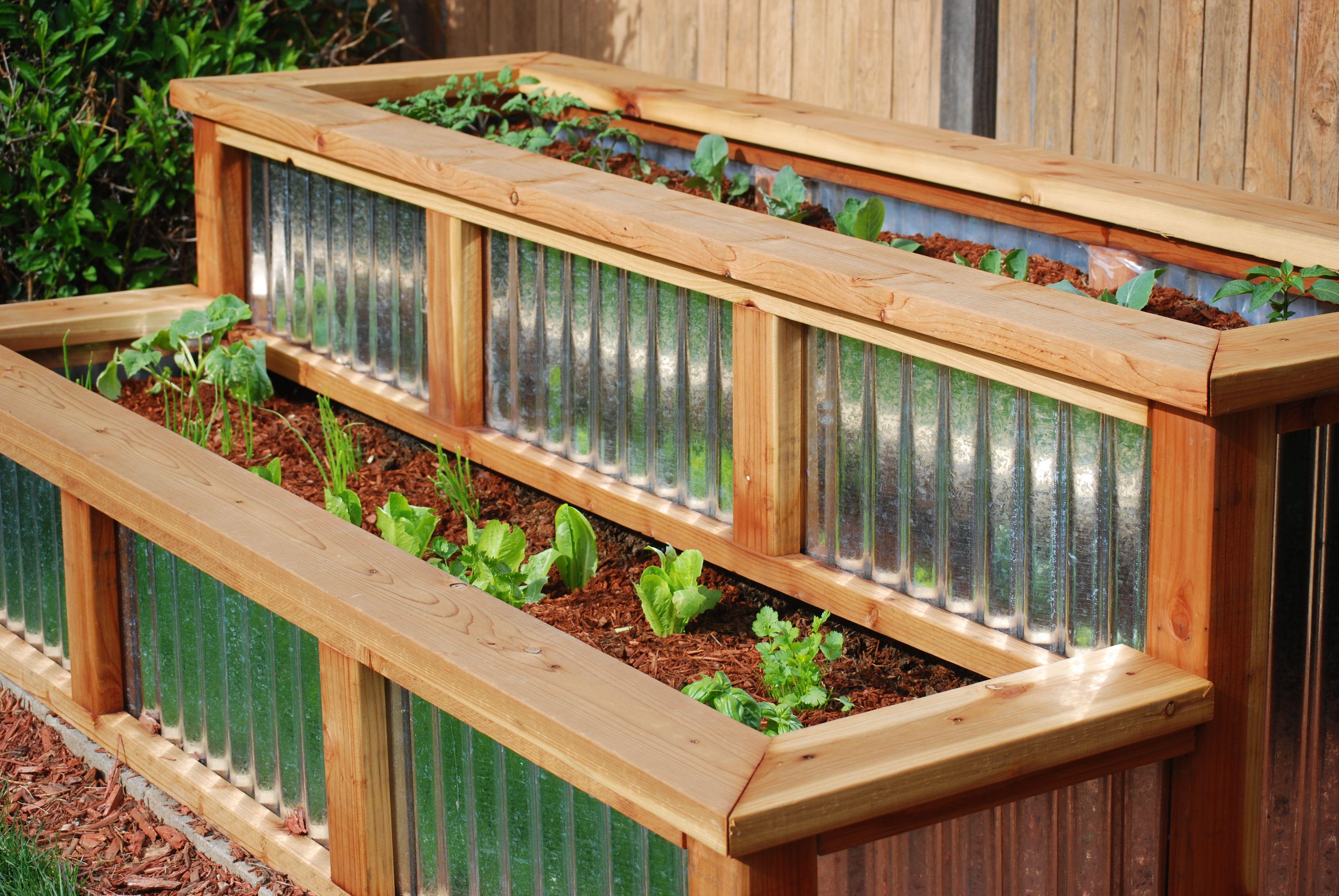 Raised Planter Box Corrugated Metal