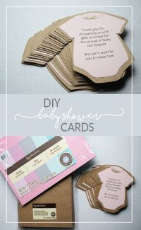 DIY Baby Shower Invitations or Thank You Cards! | Diy baby ...