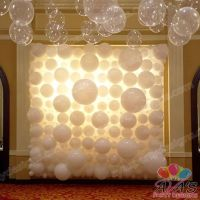 Elegant Wedding Balloon Wall, wedding balloon backdrop