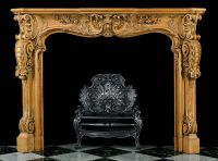 Antique Wood carved Rococo Louis XV Fireplace Mantel ...