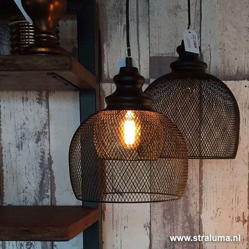 Gaas hanglamp Karleen zwart slaapkamer  wwwstralumanl