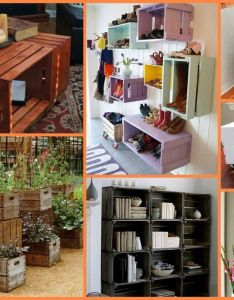 Repurposed old crates can be turned into something useful for your home find the idea also rh pinterest