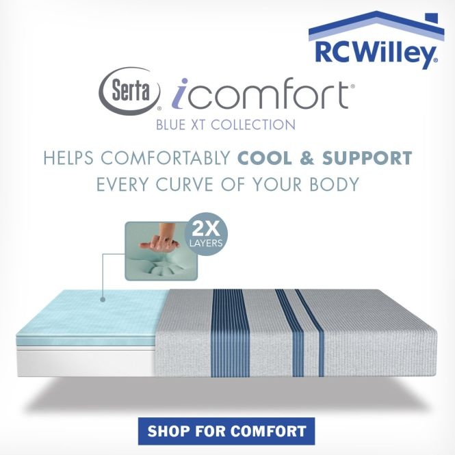 Find The Perfect Mattress At Rc Willey Serta Sertamattresses Icomfort Sertaicomfort