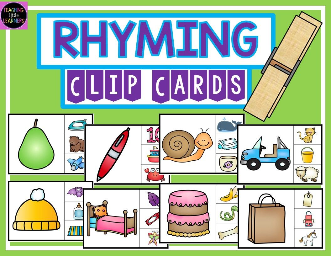 Free Download Rhyming Clip Cards