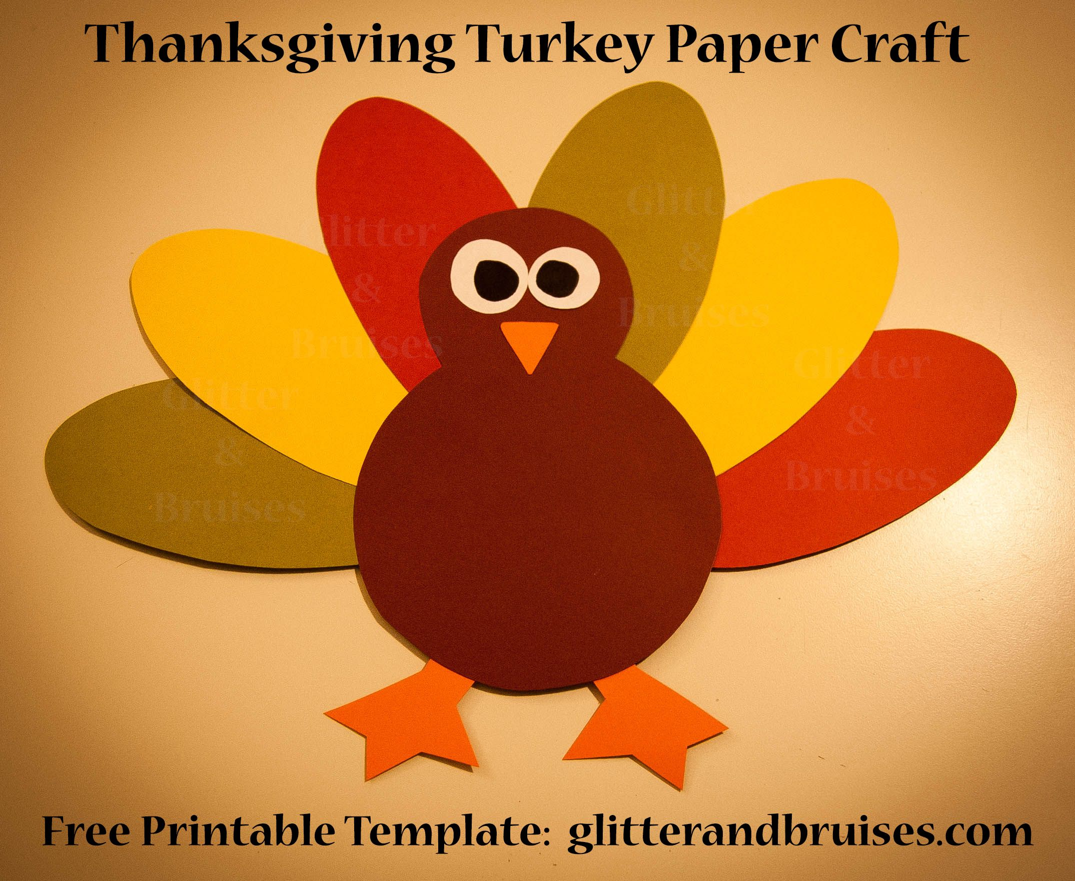 Thanksgiving Turkey Paper Craft For Kids Download And