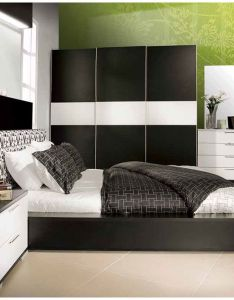 Black and white headboard painting rustic table chair contemporary bedside lamp comfortable sofa bedroom from basic tips for design ideas also what are the differences between traditional rh pinterest