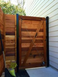 Horizontal gate with fence | Garden | Pinterest | Fences ...