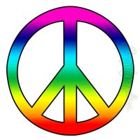 Rainbow Peace Sign Wall Decals Art Peel & Stick Wall ...